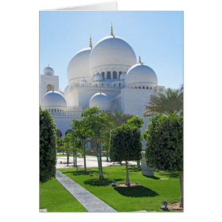 Sheikh Zayed Grand Mosque Domes Card