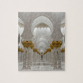 Sheikh Zayed Grand mosque in Abu Dhabi, United Ara Jigsaw Puzzle