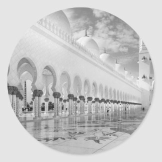 Sheikh Zayed Mosque Classic Round Sticker
