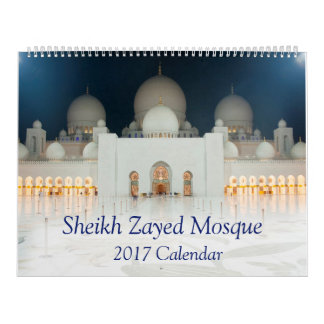 Sheikh Zayed Mosque Wall Calendars