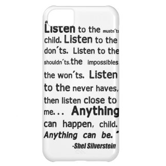 Shel Silverstein Quote iPhone Case