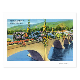 Shelburne Falls Bridge of Flowers Postcard