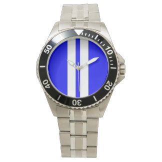 Shelby Cobra Blue White Racing Stripes Watch