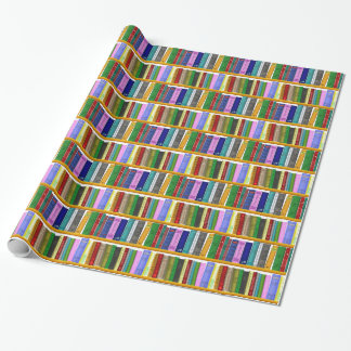 shelf books library reading wrapping paper