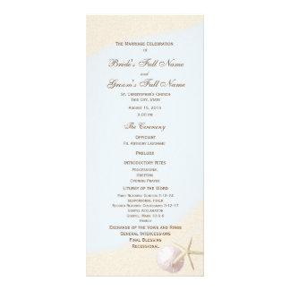 Shell Beach Starfish Wedding Program Rack Card