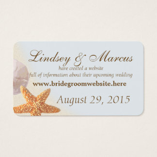 Shell Beach Wedding Information Cards
