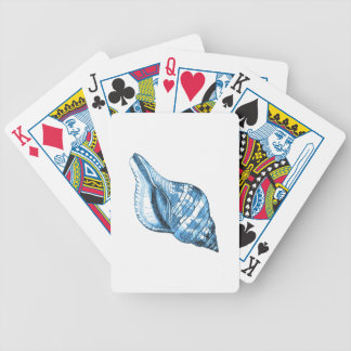 Shell nautical coastal beach ocean blue gifts bicycle playing cards