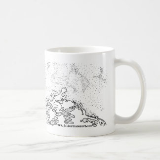 Shell one the beach coffee mug