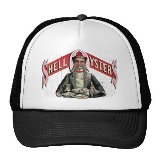 Shell Oysters Vintage Advertisement Trucker Hat