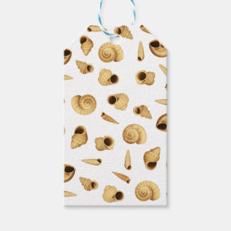 Shell pattern gift tags