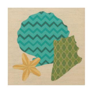 Shell Patterns II Wood Wall Art