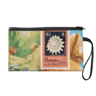 Shell Stamp Wristlet