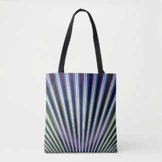SHELL STRIPES TOTE BAG