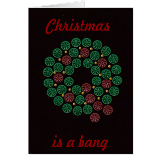 Shell wreath Christmas, is a bang card