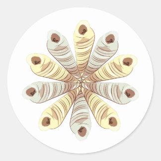 Shell Wreath Round Sticker