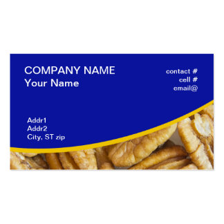 shelled pecans business card template
