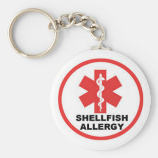 Shellfish allergy key ring