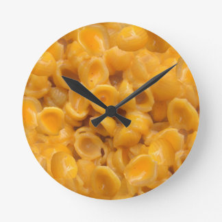 shells and cheese round clock