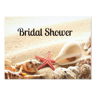 Shells and Starfish Bridal Shower Invitation