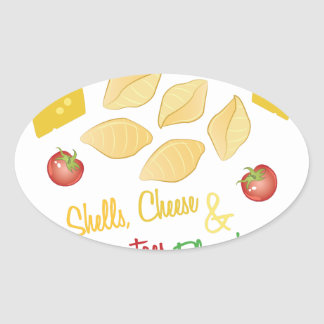 Shells Cheese Oval Sticker