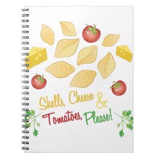 Shells Cheese Spiral Notebook