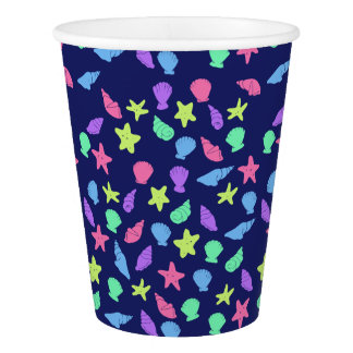shells in neon paper cup