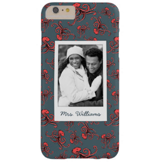 Shells & Starfish Pattern | Your Photo & Name Barely There iPhone 6 Plus Case