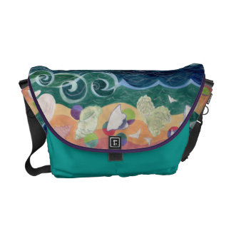 Shells - Under Wild Footsteps Messenger Bag