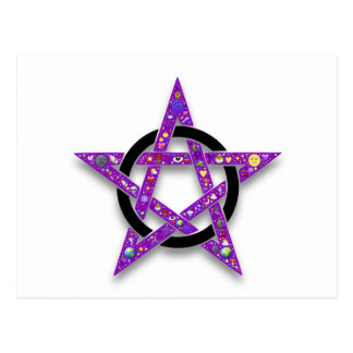 Shelly's Star purple pentacle Postcard