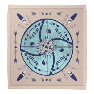 Sheltering Moon Mandala Native Symbols Bandanna
