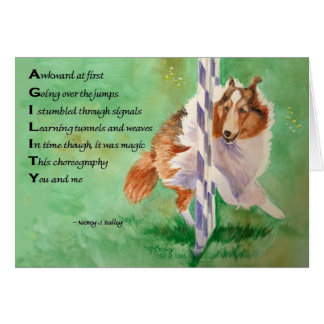 Sheltie Agility Poem Card