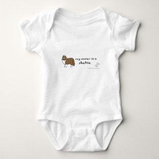 sheltie baby bodysuit