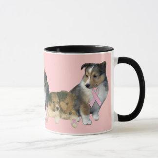 Sheltie Breast Cancer Mug