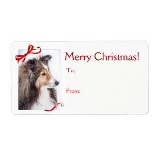 Sheltie Christmas Gift Sticker