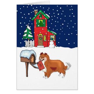 Sheltie Christmas Mail Card