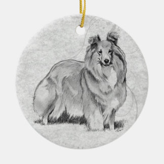 Sheltie Christmas Ornaments