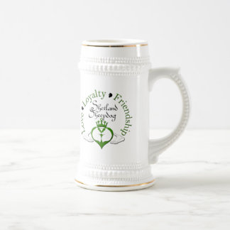 Sheltie Claddagh Mug