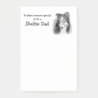 Sheltie Dad Post It Notes
