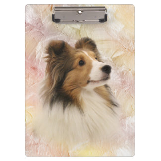Sheltie face clipboard