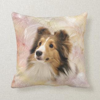 Sheltie face cushion