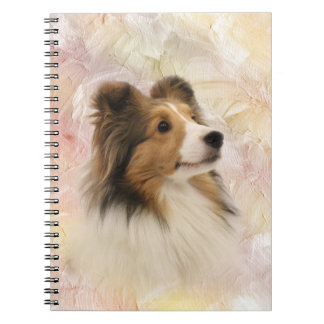 Sheltie face notebook