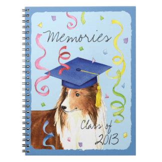 Sheltie Graduate Spiral Note Book