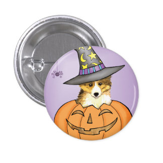 Sheltie Halloween 3 Cm Round Badge
