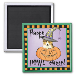 Sheltie Halloween Magnet