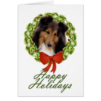 Sheltie Holiday #1 Card