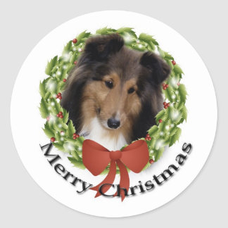 Sheltie Holiday #1 Sticker