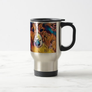 Sheltie image travel mug