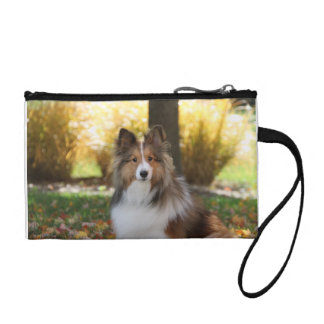 Sheltie Key Coin Clutch
