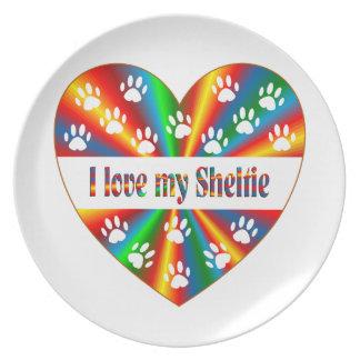 Sheltie Love Plates