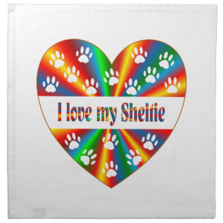 Sheltie Love Printed Napkins